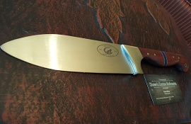 "12"" 1095 steel Chefs Knife"